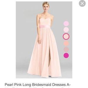 Azazie Bridesmaid Dress - Fiona, Pearl Pink